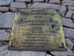 Plaque commemorating British troops who fought and died on the Croatian island of Brac May - June 1944, including the RSR. Located on the island's highest peak - Vidova Gora (778 m)